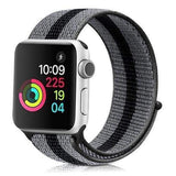 accessories strip black / 38mm/40mm Apple Watch band Nylon sport loop strap 44mm/ 40mm/ 42mm/ 38mm iWatch Series 1 2 3 4 bracelet hook-and-loop wrist watchband accessories - US fast shipping