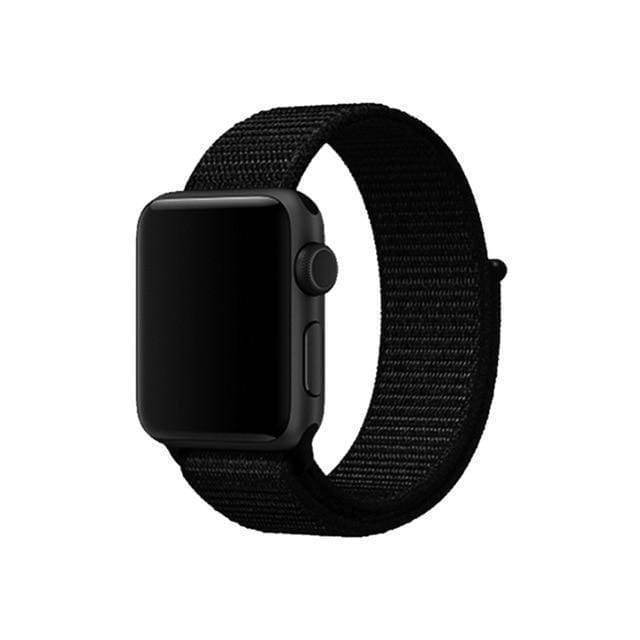 accessories whole black / 38mm/40mm Apple Watch band Nylon sport loop strap 44mm/ 40mm/ 42mm/ 38mm iWatch Series 1 2 3 4 bracelet hook-and-loop wrist watchband accessories - US fast shipping
