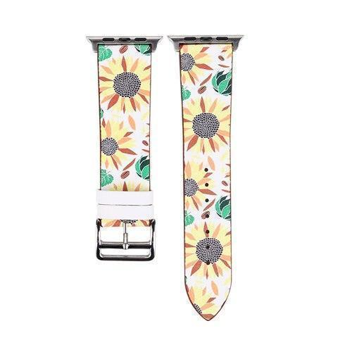 Accessories Yellow / 38mm/40mm Apple Watch band strap, flower floral design print, 44mm/ 40mm/ 42mm/ 38mm , Series 1 2 3 4