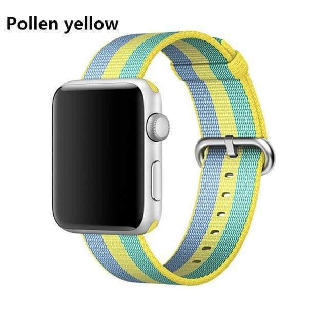 accessories Yellow / 38mm / 40mm Apple Watch Series 5 4 3 2 Band, Best Apple watch band Nylon Woven Loop 38mm, 40mm, 42mm, 44mm