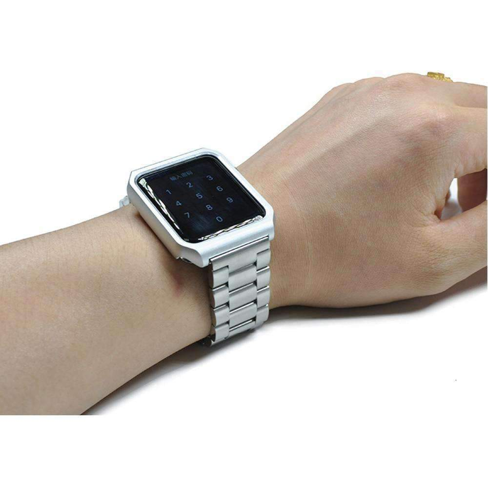 Apple Apple watch band case stainless steel  strap 42mm/38 metal bracelet for iwatch series 1/2/3 - USA Fast Shipping