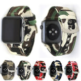 Apple Apple Watch Series 5 4 3 2 Band, Camouflage Wrist Belt Canvas Band Strap for Men 38mm, 40mm, 42mm, 44mm