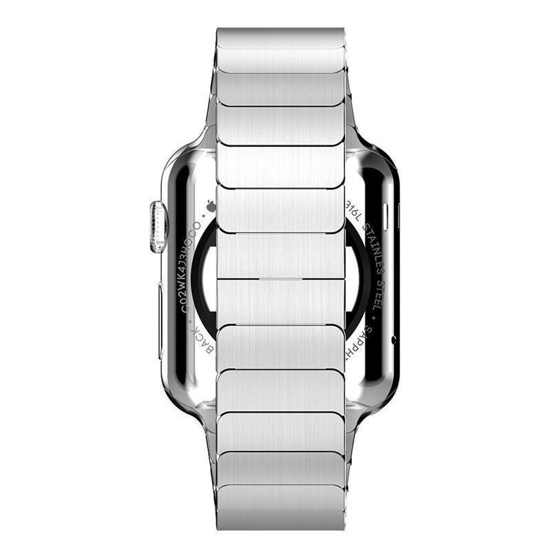 Apple Apple Watch Series 5 4 3 2 Band, Luxury Stainless Steel Link Bracelet Minimal band with adapters 38mm, 40mm, 42mm, 44mm - US Fast Shipping