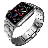 Apple Apple Watch Series 5 4 3 2 Band, Metal Band Stainless Steel Butterfly Buckle Strap  38mm, 40mm, 42mm, 44mm