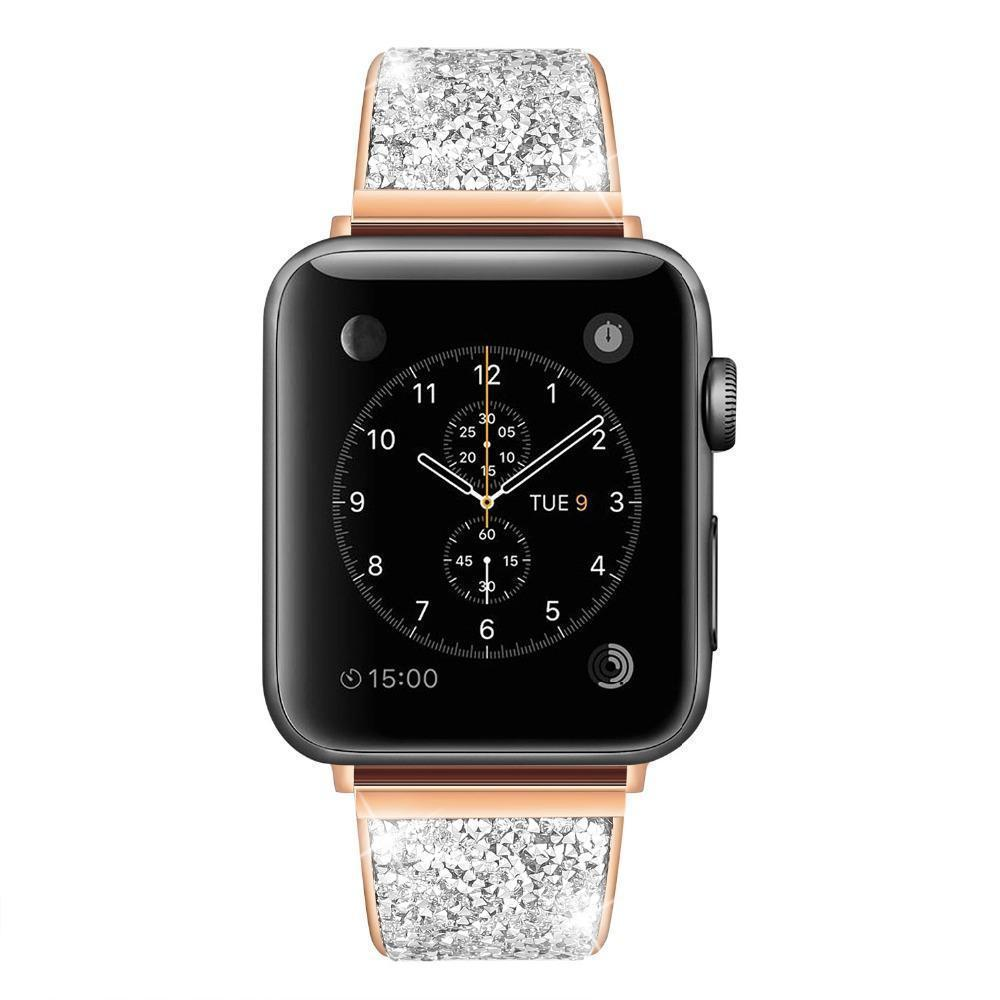 Apple Apple Watch Series 5 4 3 2 Band, Rose gold, Silver or Black Luxury Watchbands Stainless Steel Bracelet Srap 38mm, 40mm, 42mm, 44mm