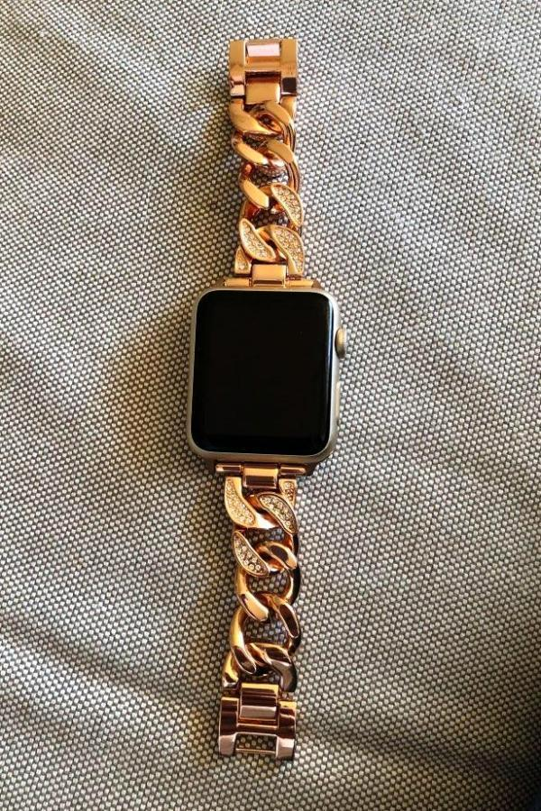 Apple Apple Watch Series 5 4 3 2 Band, Women Ladies Watch Bracelet, Fashionable Diamond Cowboy Chains Strap Metal Link 38mm, 40mm, 42mm, 44mm