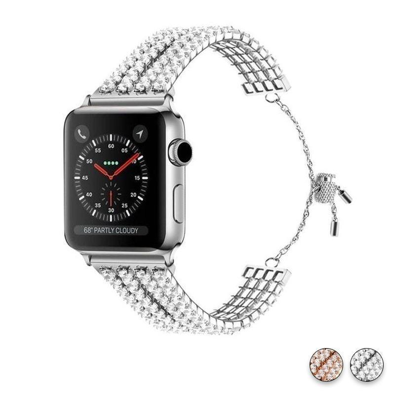 Apple Apple Watch Series 5 4 3  Band, Luxury Bling Cuff Diamond iwatch Strap For Women 38mm, 40mm, 42mm, 44mm