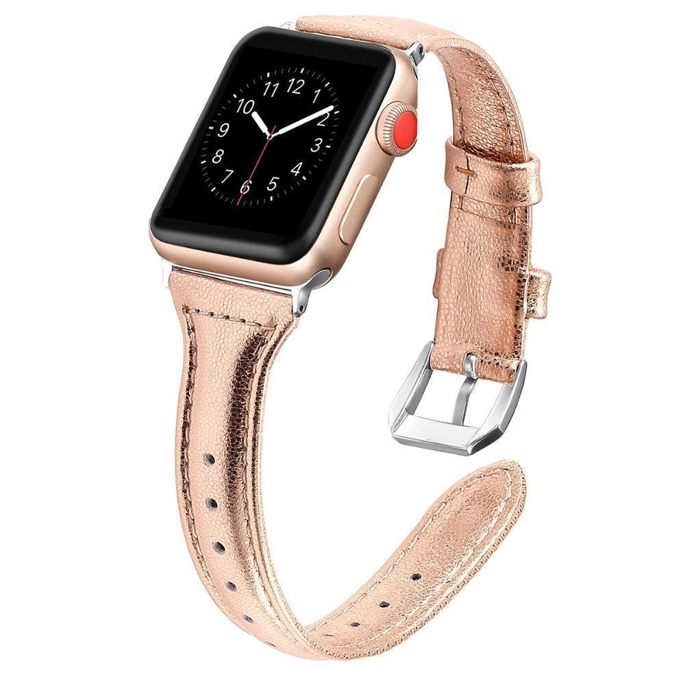 Apple Band for Apple Watch Leather Bnad 38mm 42mm 40mm 44mm Rose Gold Silver Strap For Apple Watch Bracelet Series 4 3 2 1 For Women