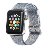 Apple black / 38mm/40mm Sport Soft glitter Silicone Strap For Apple Watch Series 4 3 2 1 44mm 40mm 42mm 38mm Band Replacement Strap Wristband For iWatch Band - US Fast shipping