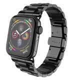 Apple Black / 38mm Apple Watch Series 5 4 3 2 Band, Metal Band Stainless Steel Butterfly Buckle Strap  38mm, 40mm, 42mm, 44mm