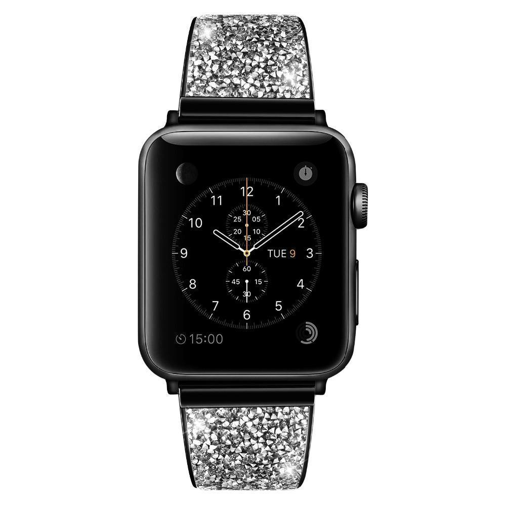 Apple Black / 42mm / 44mm Apple Watch Series 5 4 3 2 Band, Rose gold, Silver or Black Luxury Watchbands Stainless Steel Bracelet Srap 38mm, 40mm, 42mm, 44mm