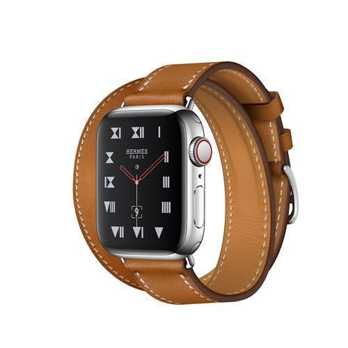 Apple Brown / 38mm Leather strap For apple watch band 42mm 38mm iWatch band 44mm 40mm Double Tour bracelet watchband Apple watch 4 3 21 Accessories ( US Fast Shipping)