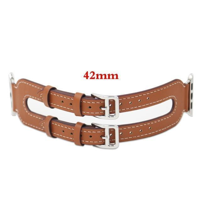 Apple Brown / 42mm/44mm Genuine Leather strap For Apple Watch 3/2/1 38mm 42mm ( US Fast Shipping)