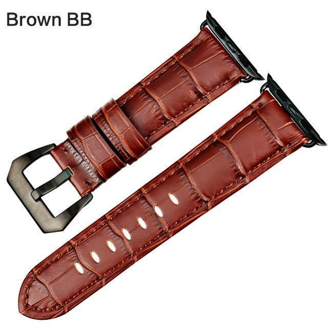 Apple Brown BB / For Apple Watch 38mm Watchbands genuine cow leather watch strap for Apple Watch Band 42mm 38mm series 4 1 iwatch 4 44mm 40mm  watch bracelet