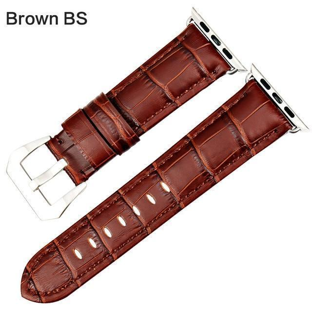 Apple Brown BS / For Apple Watch 38mm Watchbands genuine cow leather watch strap for Apple Watch Band 42mm 38mm series 4 1 iwatch 4 44mm 40mm  watch bracelet