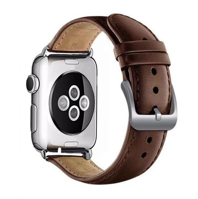 Apple brown / for 38mm and 40mm manufacturer Leather Loop for iwatch 4 3 2 1 Strap for Apple Watch Band 38mm 42mm 40mm 44mm Flower Design