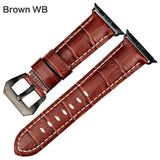 Apple Brown WB / For Apple Watch 38mm Watchbands genuine cow leather watch strap for Apple Watch Band 42mm 38mm series 4 1 iwatch 4 44mm 40mm  watch bracelet