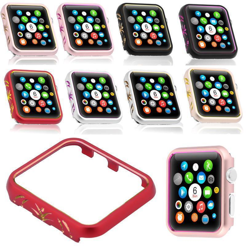 Apple Cases Cover For Apple Watch case 42mm/38mm iwatch band 3/2/1 aluminum alloy protective Screen Anti-fall Frame Protector Shell