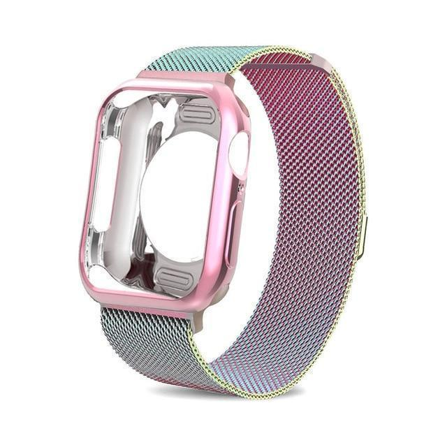 Apple China / colorful / For apple watch 38mm Case+watch strap for Apple Watch 3 iwatch band 42mm 38mm Milanese Loop bracelet Stainless Steel watchband for Apple Watch 4 3 21