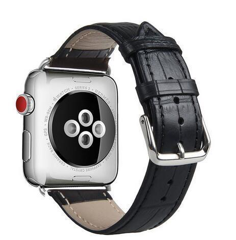 Apple crocodile-black / for 38mm and 40mm manufacturer Leather Loop for iwatch 4 3 2 1 Strap for Apple Watch Band 38mm 42mm 40mm 44mm Flower Design