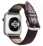 Apple crocodile-brown / for 38mm and 40mm manufacturer Leather Loop for iwatch 4 3 2 1 Strap for Apple Watch Band 38mm 42mm 40mm 44mm Flower Design