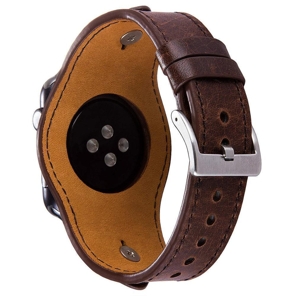 Apple Cuff Bracelets Bands for Apple Watch 38mm 42mm 40mm 44mm Iwatch Series 4 3 2 1, Leather Jewelry Wristband Strap for Women Men