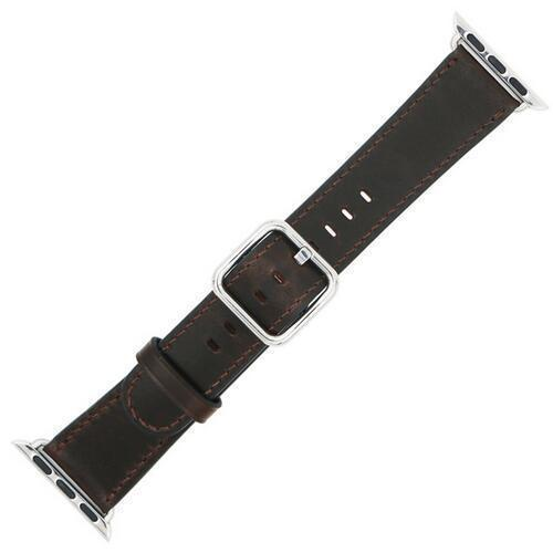 Apple Dark Brown / 42 mm Leather Strap For Apple Watch Band 42mm 38mm iwatch 4/3 Bracelet 44mm 40mm bracelet Stainless Steel Classic Buckle Watchband, USA Fast Shipping