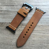 Apple Dark Brown / 42mm / 44mm Genuine Leather strap For Apple watch band apple watch 4 3 42mm 38mm iwatch band 44mm 40mm correa pulseira apple watch Accessorie