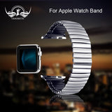 Apple Elastic Watchband Stainless Steel for Apple Watch 38mm 42mm iWatch 1/2/3/4 All Versions 40mm 44mm Metal Strap Strech Band Loop