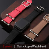 Apple Faux Leather classic band For apple watch series 4 3 2 1 iwatch strap 38 40MM 42 44mm single tour bands