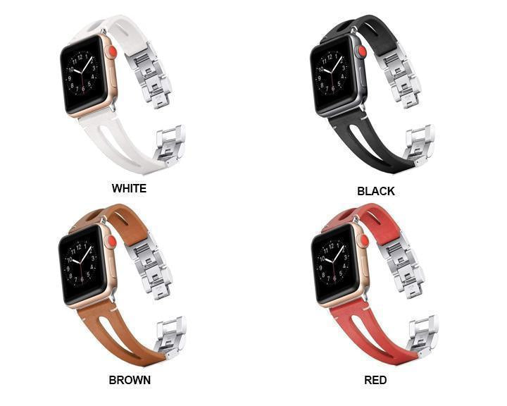 Apple Faux Leather watch band for Apple Watch Bands 38mm 42mm 40mm 44mm Bracelet for iWatch Series 4 3 2 1 women/Men