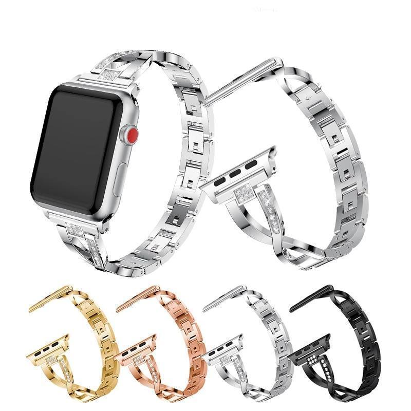 Apple For Apple Watch band 40mm 44mm 38mm 42mm women Diamond Band for iWatch series 4 3 2 1  bracelet stainless steel strap Wristband