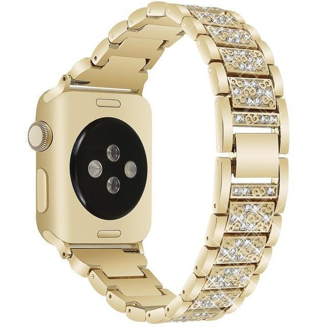 Apple gold / 38mm/40mm Apple Watch bling band, women Diamond rhinestone stainless steel strap bracelet, iWatch series 5 4 3 , 40mm 44mm 38mm 42mm