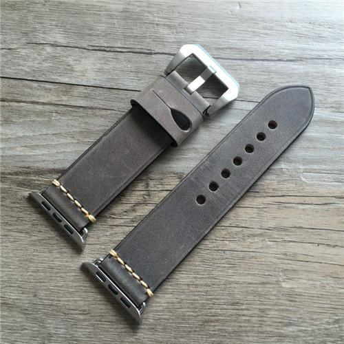 Apple Gray / 38mm / 40mm Genuine Leather strap For Apple watch band apple watch 4 3 42mm 38mm iwatch band 44mm 40mm correa pulseira apple watch Accessorie