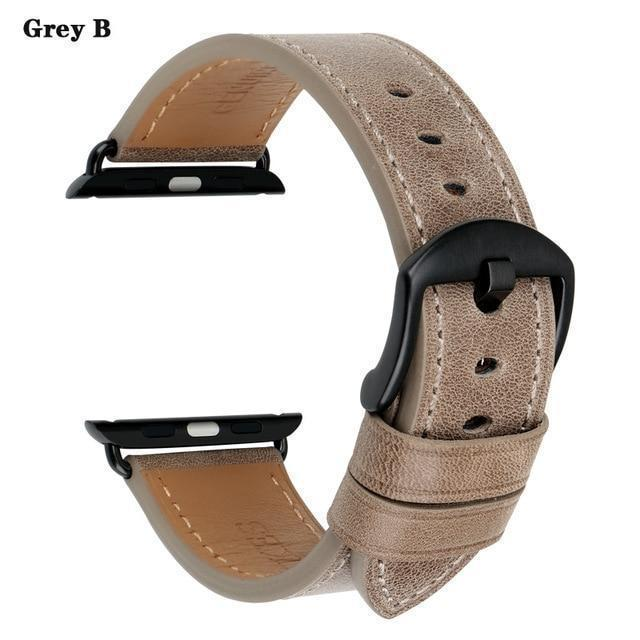 Apple Gray B / For Apple Watch 38mm Watch Accessories Genuine Leather For Apple Watch Band 44mm 40mm & Apple Watch Bands 42mm 38mm Series 4 3 2 1 Watch Strap