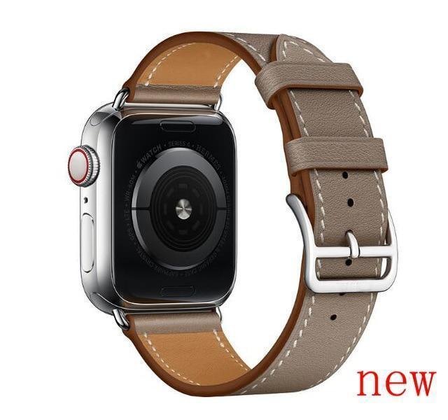 Apple Gray brown / for 38mm and 40mm manufacturer Leather Loop for iwatch 4 3 2 1 Strap for Apple Watch Band 38mm 42mm 40mm 44mm Flower Design