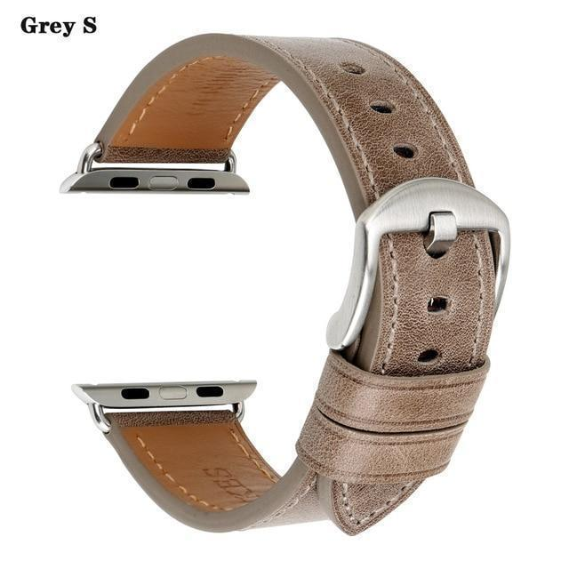 Apple Gray S / For Apple Watch 38mm Watch Accessories Genuine Leather For Apple Watch Band 44mm 40mm & Apple Watch Bands 42mm 38mm Series 4 3 2 1 Watch Strap
