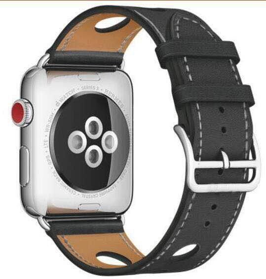 Apple hole-black / for 38mm and 40mm manufacturer Leather Loop for iwatch 4 3 2 1 Strap for Apple Watch Band 38mm 42mm 40mm 44mm Flower Design