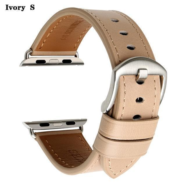 Apple Ivory S / For Apple Watch 38mm Watch Accessories Genuine Leather For Apple Watch Band 44mm 40mm & Apple Watch Bands 42mm 38mm Series 4 3 2 1 Watch Strap