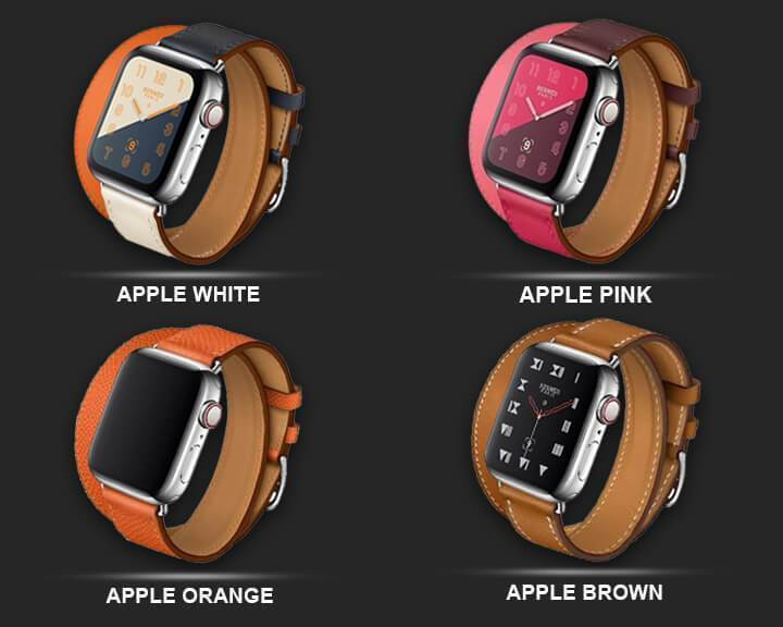 Apple Leather strap For apple watch band 42mm 38mm iWatch band 44mm 40mm Double Tour bracelet watchband Apple watch 4 3 21 Accessories ( US Fast Shipping)