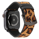 Apple Luxury Leopard Print Leather Watch Strap for Apple Watch Series 4 3 2 1 Band Men/Women Bracelet 38mm 42mm 40mm 44mm