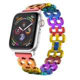 Apple Luxury Rainbow Aluminium Alloy Watch band Strap For Apple Watch 38/40mm 42/44mm Bracelet Strap for Apple Watch Series1 2 3 4