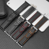 Apple Luxury Strap for Apple watch band 44 mm 40mm iWatch band 42mm 38mm Carbon fiber+Leather watchband bracelet Apple watch 4 3 2 1