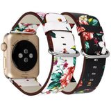 Apple manufacturer Leather Loop for iwatch 4 3 2 1 Strap for Apple Watch Band 38mm 42mm 40mm 44mm Flower Design