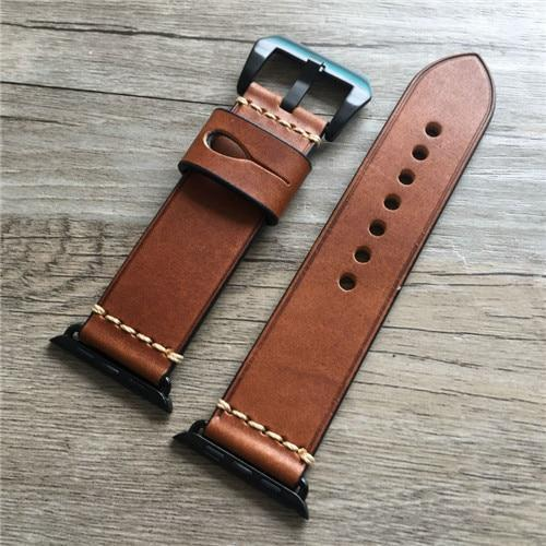 Apple Oil Red / 42mm / 44mm Genuine Leather strap For Apple watch band apple watch 4 3 42mm 38mm iwatch band 44mm 40mm correa pulseira apple watch Accessorie