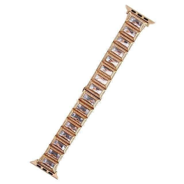 Apple Rose gold / 38mm / 40mm Apple Watch Series 5 4 3 2 Band, Luxury Diamond Bling for Women Butterfly Buckle Metal Strap 38mm, 40mm, 42mm, 44mm