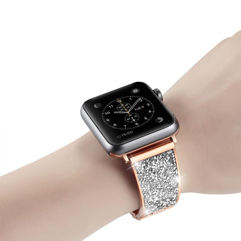 Apple Rose gold / 42mm / 44mm Apple Watch Series 5 4 3 2 Band, Rose gold, Silver or Black Luxury Watchbands Stainless Steel Bracelet Srap 38mm, 40mm, 42mm, 44mm