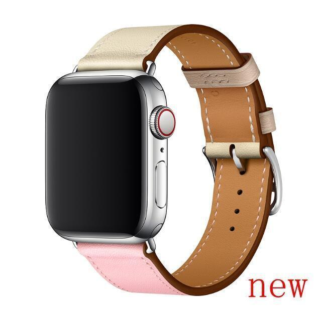 Apple Rose Sakura Craie / for 38mm and 40mm manufacturer Leather Loop for iwatch 4 3 2 1 Strap for Apple Watch Band 38mm 42mm 40mm 44mm Flower Design