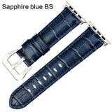 Apple Sapphire blue BS / For Apple Watch 38mm Watchbands genuine cow leather watch strap for Apple Watch Band 42mm 38mm series 4 1 iwatch 4 44mm 40mm  watch bracelet