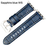 Apple Sapphire blue WS / For Apple Watch 38mm Watchbands genuine cow leather watch strap for Apple Watch Band 42mm 38mm series 4 1 iwatch 4 44mm 40mm  watch bracelet
